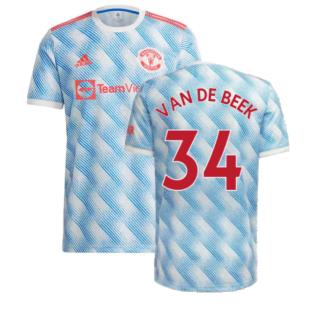 Man Utd 2021-2022 Away Shirt (VAN DE BEEK 34)