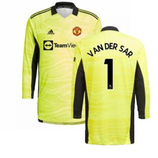 Man Utd 2021-2022 Home Goalkeeper Shirt (Yellow) (VAN DER SAR 1)