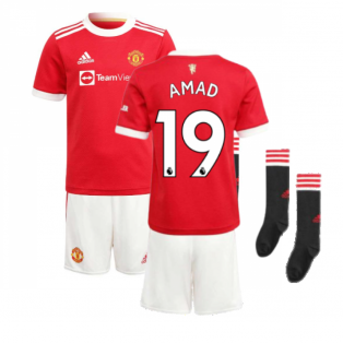 Man Utd 2021-2022 Home Mini Kit (AMAD 19)