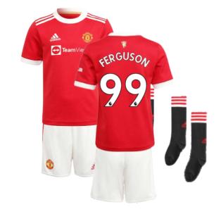 Man Utd 2021-2022 Home Mini Kit (FERGUSON 99)