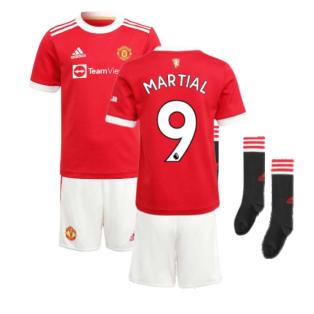 Man Utd 2021-2022 Home Mini Kit (MARTIAL 9)