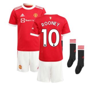 Man Utd 2021-2022 Home Mini Kit (ROONEY 10)