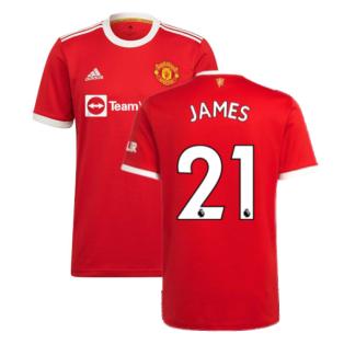 Man Utd 2021-2022 Home Shirt (JAMES 21)