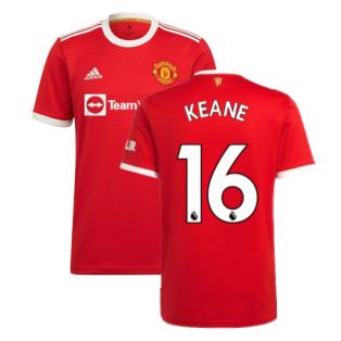 Man Utd 2021-2022 Home Shirt (KEANE 16)