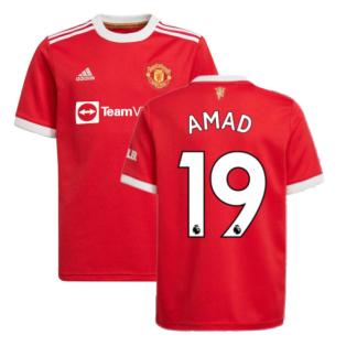 Man Utd 2021-2022 Home Shirt (Kids) (AMAD 19)