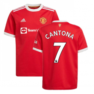 Man Utd 2021-2022 Home Shirt (Kids) (CANTONA 7)