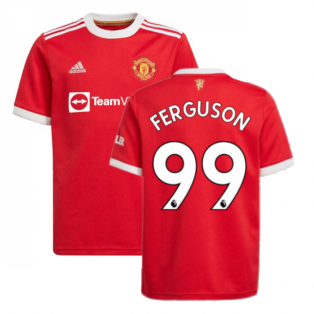 Man Utd 2021-2022 Home Shirt (Kids) (FERGUSON 99)