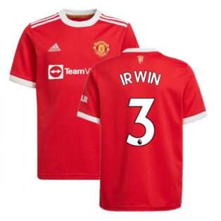 Man Utd 2021-2022 Home Shirt (Kids) (IRWIN 3)