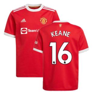 Man Utd 2021-2022 Home Shirt (Kids) (KEANE 16)