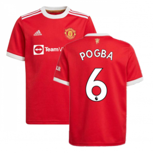 Man Utd 2021-2022 Home Shirt (Kids) (POGBA 6)