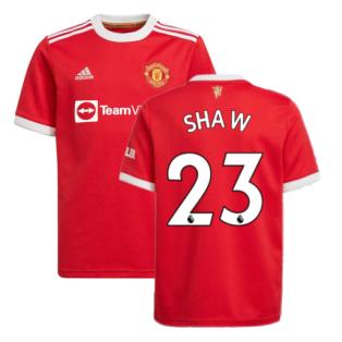 Man Utd 2021-2022 Home Shirt (Kids) (SHAW 23)