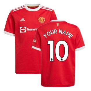 Man Utd 2021-2022 Home Shirt (Kids) (Your Name)