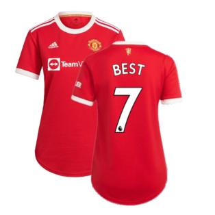 Man Utd 2021-2022 Home Shirt (Ladies) (BEST 7)