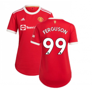 Man Utd 2021-2022 Home Shirt (Ladies) (FERGUSON 99)