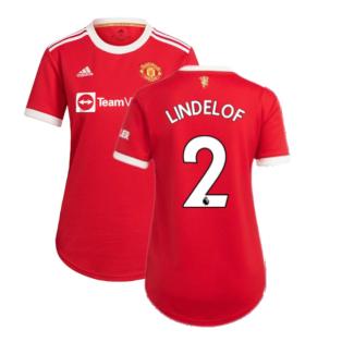 Man Utd 2021-2022 Home Shirt (Ladies) (LINDELOF 2)