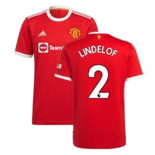 Man Utd 2021-2022 Home Shirt (LINDELOF 2)