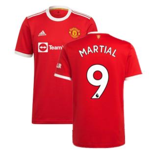 Man Utd 2021-2022 Home Shirt (MARTIAL 9)