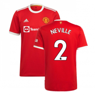Man Utd 2021-2022 Home Shirt (NEVILLE 2)
