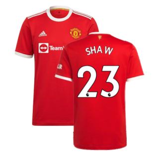 Man Utd 2021-2022 Home Shirt (SHAW 23)