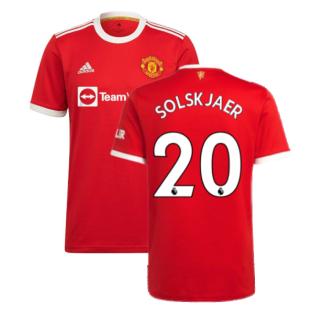 Man Utd 2021-2022 Home Shirt (SOLSKJAER 20)