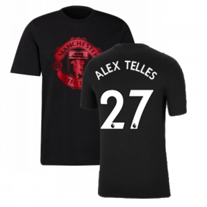 Man Utd 2021-2022 Tee (Black) (ALEX TELLES 27)