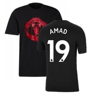 Man Utd 2021-2022 Tee (Black) (AMAD 19)