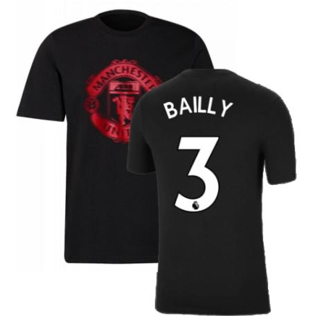 Man Utd 2021-2022 Tee (Black) (BAILLY 3)