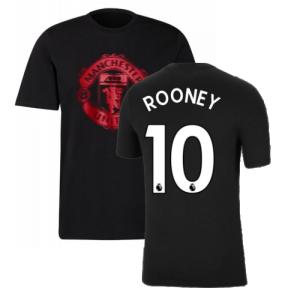 Man Utd 2021-2022 Tee (Black) (ROONEY 10)