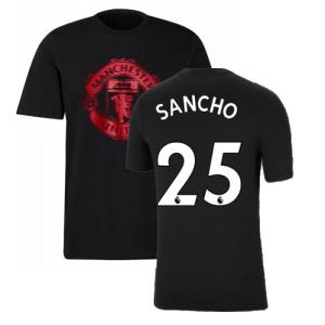 Man Utd 2021-2022 Tee (Black) (SANCHO 25)