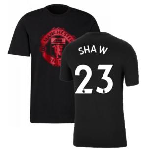 Man Utd 2021-2022 Tee (Black) (SHAW 23)