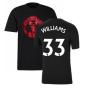 Man Utd 2021-2022 Tee (Black) (WILLIAMS 33)