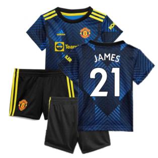 Man Utd 2021-2022 Third Baby Kit (Blue) (JAMES 21)