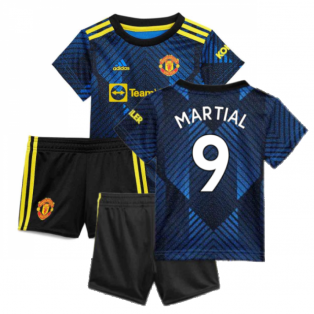 Man Utd 2021-2022 Third Baby Kit (Blue) (MARTIAL 9)