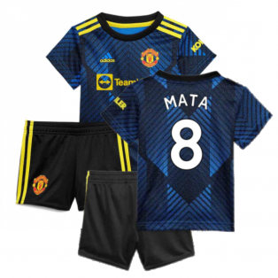 Man Utd 2021-2022 Third Baby Kit (Blue) (MATA 8)