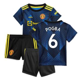 Man Utd 2021-2022 Third Baby Kit (Blue) (POGBA 6)