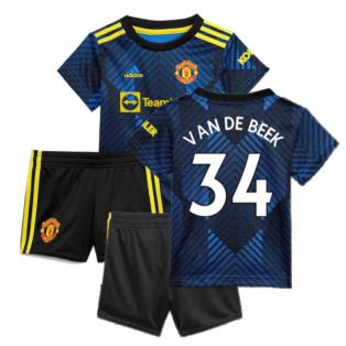 Man Utd 2021-2022 Third Baby Kit (Blue) (VAN DE BEEK 34)