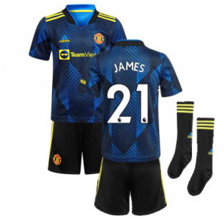 Man Utd 2021-2022 Third Mini Kit (Blue) (JAMES 21)