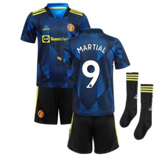 Man Utd 2021-2022 Third Mini Kit (Blue) (MARTIAL 9)