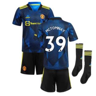 Man Utd 2021-2022 Third Mini Kit (Blue) (McTOMINAY 39)
