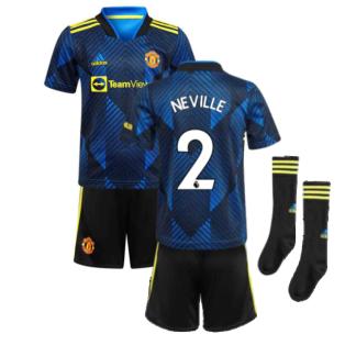 Man Utd 2021-2022 Third Mini Kit (Blue) (NEVILLE 2)