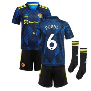 Man Utd 2021-2022 Third Mini Kit (Blue) (POGBA 6)