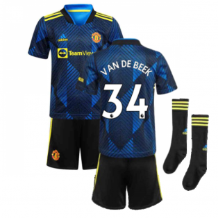 Man Utd 2021-2022 Third Mini Kit (Blue) (VAN DE BEEK 34)