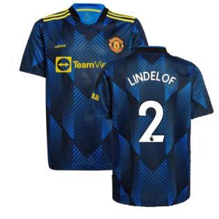 Man Utd 2021-2022 Third Shirt (Kids) (LINDELOF 2)