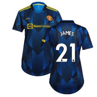 Man Utd 2021-2022 Third Shirt (Ladies) (JAMES 21)