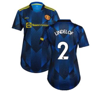 Man Utd 2021-2022 Third Shirt (Ladies) (LINDELOF 2)