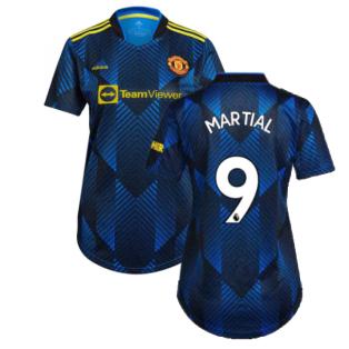 Man Utd 2021-2022 Third Shirt (Ladies) (MARTIAL 9)