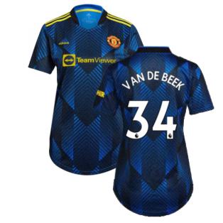 Man Utd 2021-2022 Third Shirt (Ladies) (VAN DE BEEK 34)