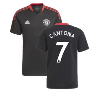 Man Utd 2021-2022 Training Shirt (Black) (CANTONA 7)