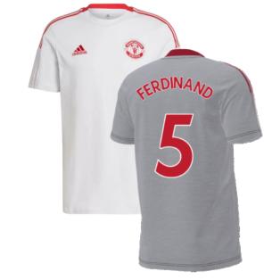 Man Utd 2021-2022 Training Tee (Grey) (FERDINAND 5)