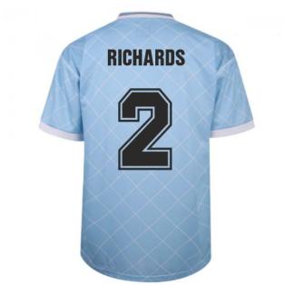 Manchester City 1988 Retro Football Shirt (RICHARDS 2)